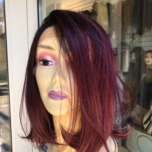 Accessories - Bob style ombré wig sale 2019 burgundy red wine